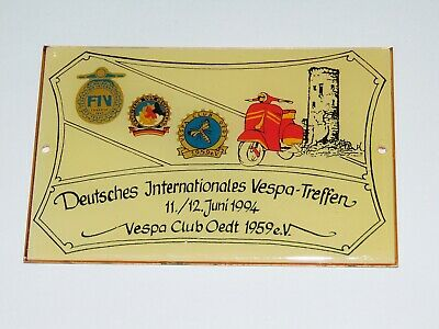 Plakette - 1994 - VESPA Club Oedt - Deutsch Internationales Vespa Treffen
