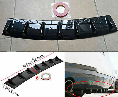 "Vehicle Shark Fin 7 Wing Lip Diffuser 33"" x 6"" Rear Bumper Chassis ABS Universal"