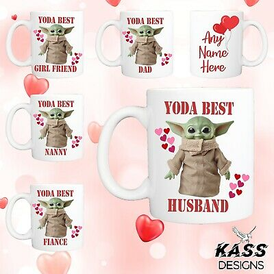 Personalised Mug Baby Yoda Mug Funny Cute Ideal Valentines Day Cup Gift Surprise