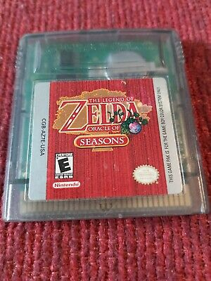 Legend of Zelda Oracle of Seasons Nintendo Game Boy Color GBC TESTED AUTHENTIC