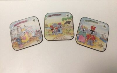 3 Vintage Bicentenary of Australia Coasters by Michael Salmon Koala 1988