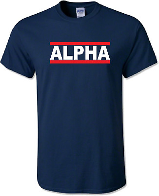 ALPHA  T-Shirt Mens Tee Top Bodybuilding Gym MMA Weightlifting Training Gift