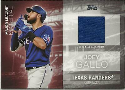 2020 Topps Series 1 JOEY GALLO Major League Material Relic Rangers Jersey Blue