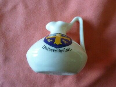A Piece Of 'Goss' Crested China In The Form Of A Ewer -- University College