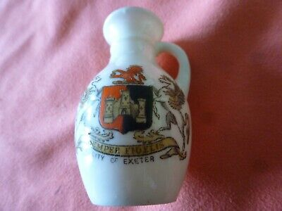 A Piece Of 'Goss' Crested China In The Form Of A Roman Jug - Exeter