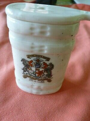 A Piece Of 'Goss' Crested China In The Form Of A Swiss Milk Pot -  Cardiff