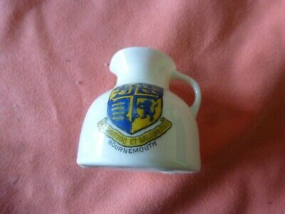 A Piece Of 'Goss' Crested China In The Form Of A Jug - Bournemouth