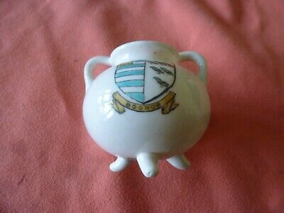 Piece Of 'Goss' Crested China In The Form Of An Ancient Pipkin - Bognor