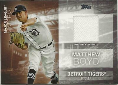 2020 Topps Series 1 MATTHEW BOYD Major League Material Relic Tigers Jersey