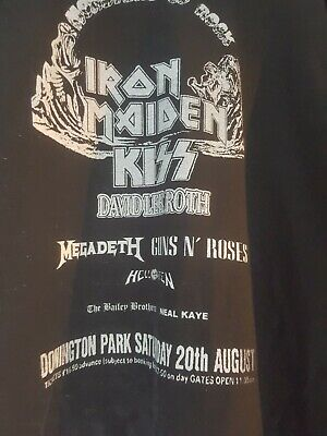 Donington Monsters of Rock 1988 T shirt handmade  from poster design
