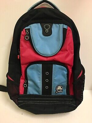 CROCS Blue/Pink Multi-Pocket Backpack