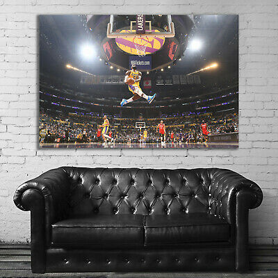 #08 Basketball Dunk Hoop Dreams Los Angeles Hypebeast Large Print Poster