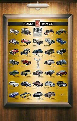 CLASSIC CAR POSTER Photo Picture Poster Print Art A0 to A4 AA932 ROLLS ROYCE