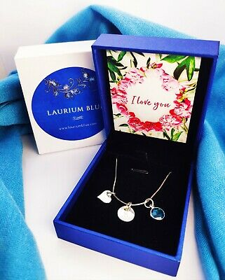 Personalised Valentines Necklace with Message Card - Initial Necklace