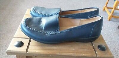 Ladies Hotter comfort concept Jazz Slip On Shoe Navy Size 5.5