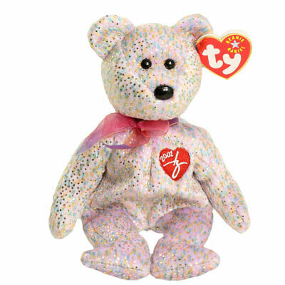 TY Beanie Baby - 2001 SIGNATURE BEAR (8.5 inch) - MWMTs Stuffed Animal Toy