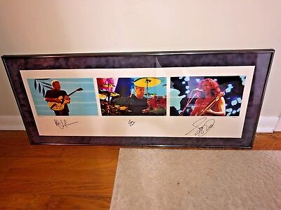 """Rush """"Rock in Rio"""" MacNaughtan Framed Print_Numbered/Autographed by all 3_PEART"""