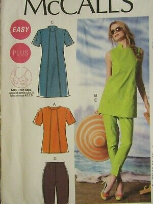 Lovely OOP McCALLS 7928 Misses//Womens Tunic /& Pants PATTERN 8-14//12-18 UC