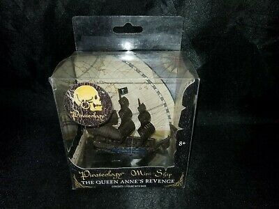 Pirateology 3.5 Inch Tall Mini Pirate Ship Barbary Galley with Display Stand