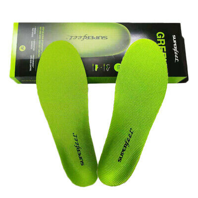 New Superfeet GREEN Insoles Professional High Arch Orthotic Insert Sizes:C D E F