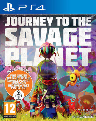 Journey To The Savage Planet & FREE Pin Badge (PS4)  BRAND NEW AND SEALED