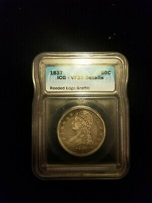 1837 ICG VF30 liberty half dollar