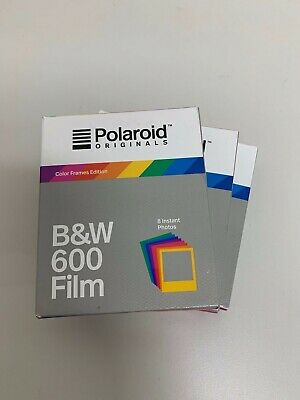 3x Polaroid Originals B&W 600 Color Frames Edition (8 instant photos)