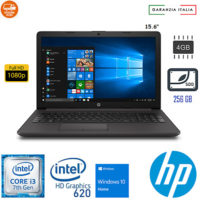 Notebook Hp 250 G7 6Bp57Ea Windows 10 Laptop Pc Computer Portatile 256Gb Ssd