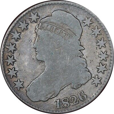 1826 Capped Bust Half Dollar VG Condition