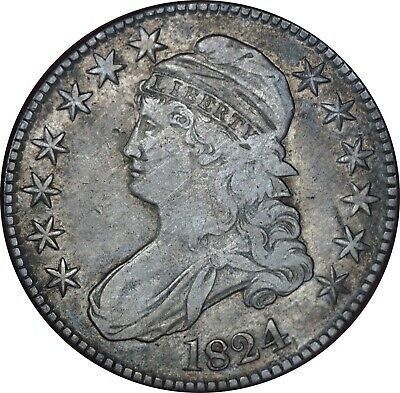 1824 Capped Bust Half Dollar XF Condition