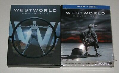 WESTWORLD - COMPLETE FIRST & SECOND SEASONS (Blu-ray Disc) - NO DIGITAL CODES