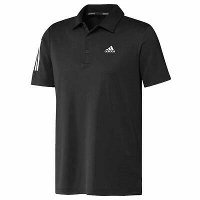 Adidas Golf 3-Stripes Básico Polo LC Logo (Negro - XXL)