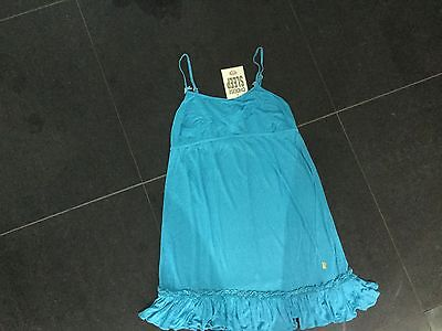 NWT Juicy Couture New & Gen. Blue Cotton Night Dress Size Small & Scotty Logo