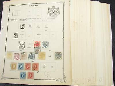NobleSpirit No Reserve (451) Valuable Old Time Romania & Turkey Coll. On Pages