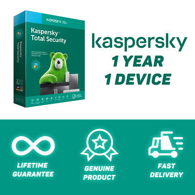 Kaspersky Total Security 2020 | 1+ Year | 1 Device | Fast delivery | GLOBAL KEY