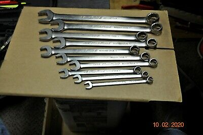 Blue Point 10 pc Combination Wrench Set Standard