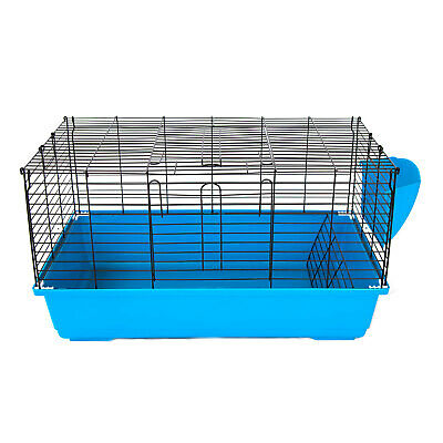 Flyline Bunny Hotel 80 Rabbit Guinea Pig Chinchilla Cage with Big Tray Black
