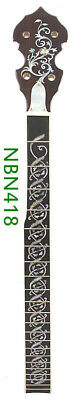 5 String Banjo Neck Maple wood Right Hand Laurel MOP abalone inlay NBN418 byCC