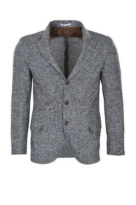 Brunello Cucinelli Blazer Men's 48 SALE !! Gray Slim Twill Alpaca