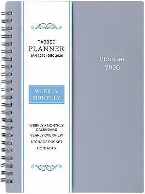 """Weekly And Monthly Planner 6.25"""" x 8.3"""" Flexible Cover Monthly Tabs Notes Pages"""