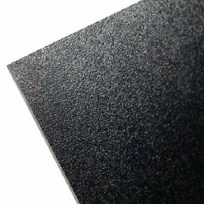 "(8 Pack) V Sheets KYDEX Sheet 12"" x 12"" .028"" Black Thin Plastic Thermo Forming^"
