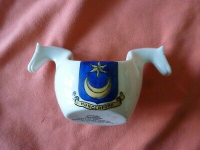 Piece Of 'Goss' Crested China In The Form Of A Norwegian Beer Bowl - Hungerford