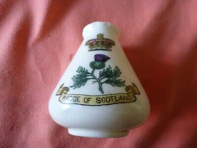 Piece Of 'Goss' Crested China In The Form Of A Pot - Scotland