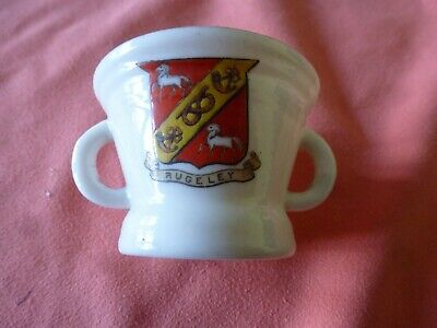 Piece Of 'Goss' Crested China In The Form Of A Cromwellian Mortar - Rugeley