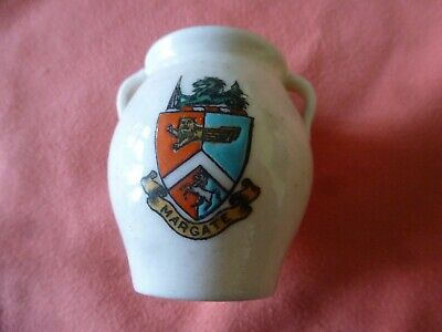 Piece Of 'Goss' Crested China In The Form Of A Cornish Bussar