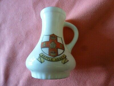 Piece Of 'Goss' Crested China In The Form Of A Medieval Jug - Battle Abbey