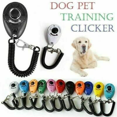 DOG CLICKER PET TRAINING CLICKER TRAINER TEACHING TOOL FOR DOGS PUPPY Nice Hi-Q
