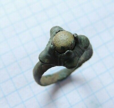 Ancient Bronze Viking Signet 7th-9th Century