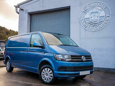 VW T6 Transporter LWB *Aircon* with Barn Doors in Acapulco Blue