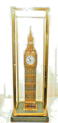 """London's Big Ben Clock 24"""" High-Solid Heavy Brass With Dome/Case--STUNNING CLOCK"""